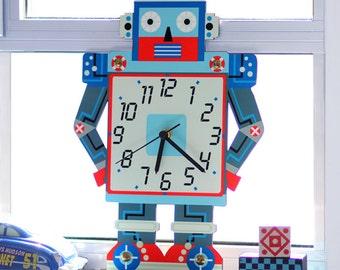 Kids Wall Clock - Nursery Clock - Nursery Wall Clock - Childrens Wall Clock - Kids Clock - Childrens Clock - Boys Clock - Kids Wall Art