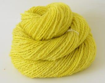 Handspun Yarn -  Finn Cross Corriedale Romney Yarn - Art Yarn- 1.7oz, 130yd, 15WPI