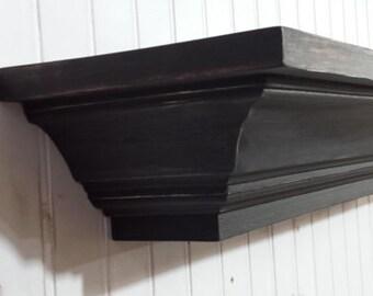 Small Distressed Wall Shelf, Distressed Mantel, Floating Wall Shelf, Mantel Shelf, Floating Shelf, Fireplace Mantel, Housewarming gift