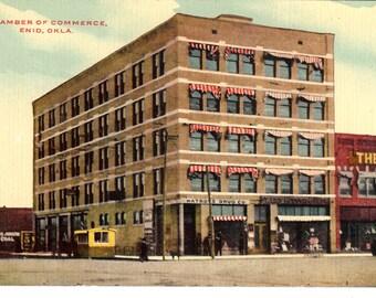 Vintage Postcard...Oklahoma, Enid, Chamber of Commerce...Unused..no. OK0013