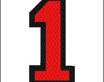 Number 1 Embroidery design