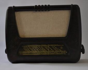 Czechoslovakia TESLA ACCORD 401U Tube Bakelite Radio, Tube Radio, Vintage Radio, Antique Radio, Tesla Radio, Vintage Audio