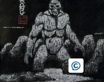 Kong Skull island style painting prints