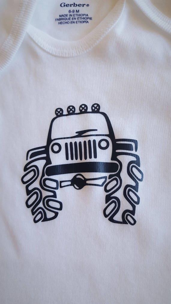 Monster Truck Baby Bodysuit
