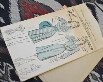 1940s Advance Dress Pattern, #3020, Size 16 (34 Bust, 35 Hip, 28 Waist)