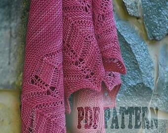 Pdf pattern, hand knit, knitting shawl wrap, pdf knitting shawl pattern, oversized lace shawl, merino wool shawl, knit semi-circular shawl