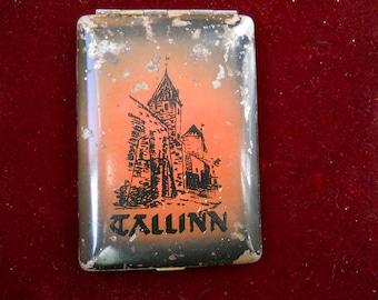 Vintage soviet cigarette case. Cigarette box USSR. Cigarette holder. Tallinn