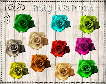 11 Digital Roses Clipart Scrapbook Element Digital Clip Art Rose Clip Art