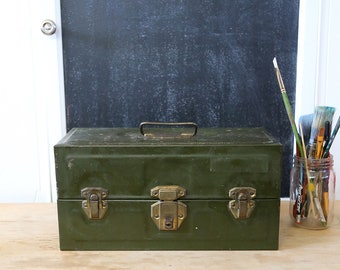 Vintage Union Tackle Box, Fishing, Toolbox, Storage Box, Industrial, Camping Decor, Home Decor, Rustic, Organizer, Supply Box, Artist, Craft