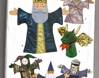 Puppet Theater and Six Hand Puppets  /  Original Butterick Crafts Uncut Sewing Pattern 3230