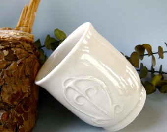 Hand-carved Ceramic Cup MADE TO ORDER -- African Symbol of Love