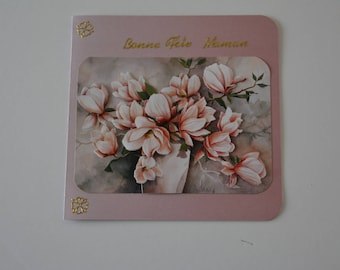 Magnolia flowers in 3 Dimensions good mother's Day card