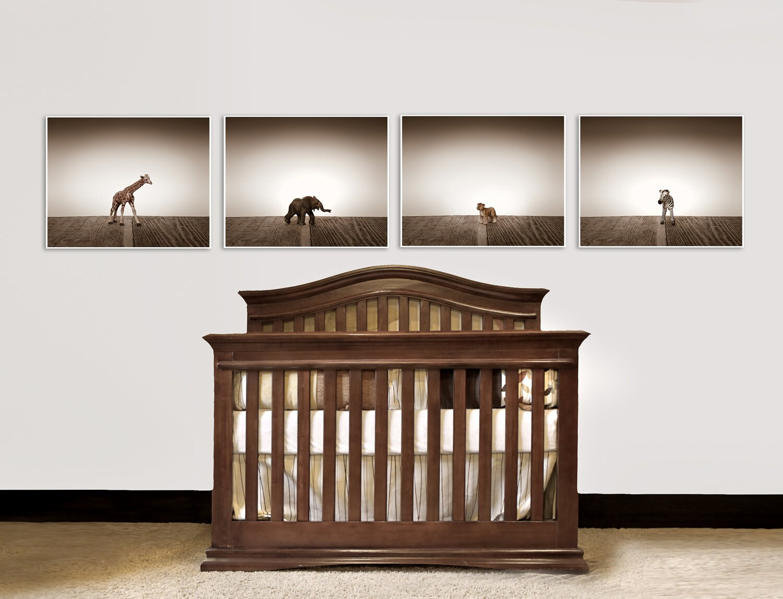 Nursery Decor Baby animal art Baby room ideas Safari