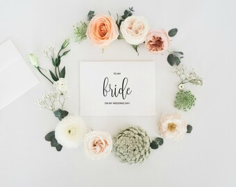 To My Bride On Our Wedding Day, To My Bride Card, Groom To Bride,  Bridal Card From Husband To Bride, Wedding Day Card, INSTANT DOWNLOAD