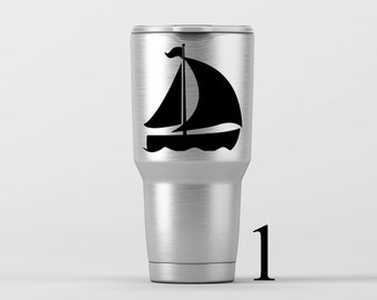 Sailboat (5 Options Available) / Yeti Decal / Vinyl Decal / Yeti Tumbler Decal / Yeti Cup Decal / RTIC / * Tumbler Available *
