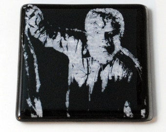 Wolfman Fused Glass Coaster