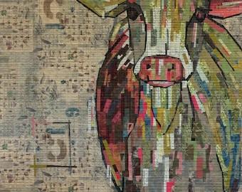 Art Quilt PATTERN - Abilene - FW_Cow
