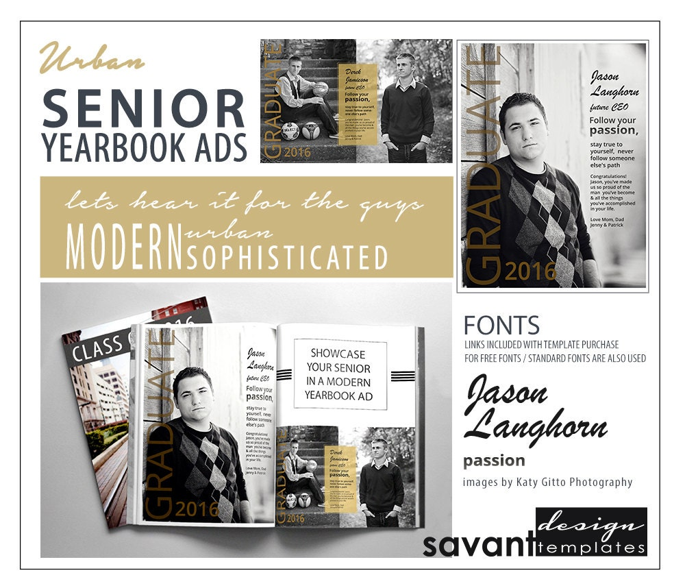 yearbook ads senior graduation photoshop templates urban. Black Bedroom Furniture Sets. Home Design Ideas