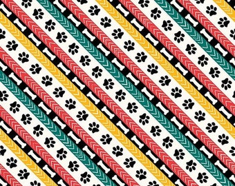 Dog Wisdom Diagonal Stripe 14613-134 from Wilmington by the yard