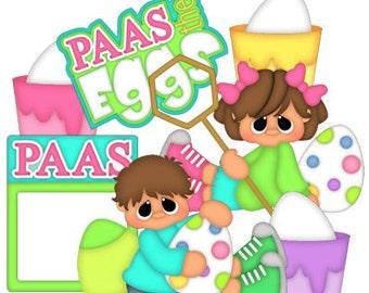 Easter die cuts, scrapbook die cuts, planner die cuts, coloring Easter eggs, scrapbook embellishments, Easter planner accessories