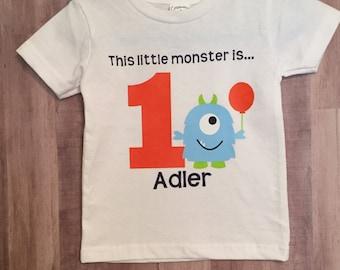This Little Monster Birthday Shirt