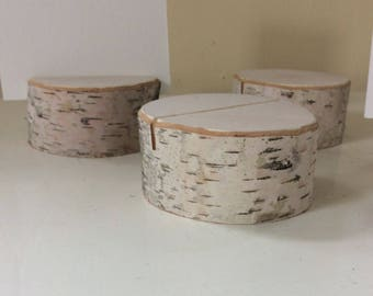Set of 10 Birch Branch Table Number Holders Country Outdoor Natural Wedding Eco Friendly
