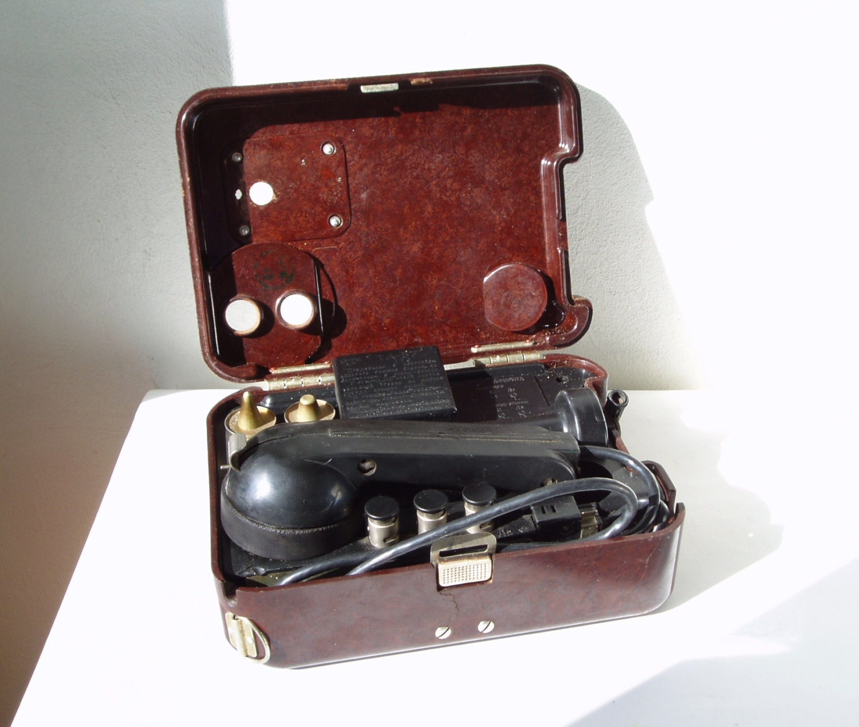 Soviet Field Telephone TA-57 Russian Army Phone WWII USSR