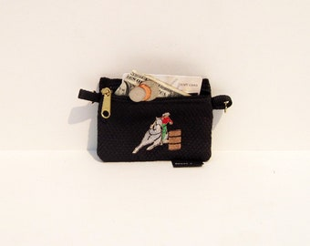 Barrel Racer Horse Coin Purse or 2 piece set