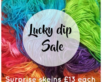 LUCKY DIP SALE surprise skein of hand dyed yarn at a reduced sale price till stock last