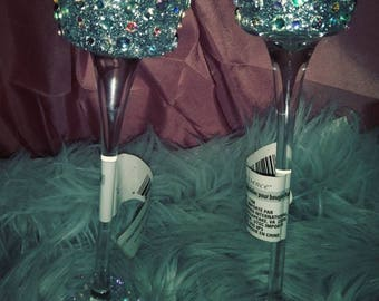Blinged Tea Candle Holders