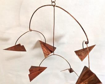 6 piece copper glider mobile