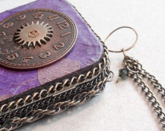 Steam Punk, Steampunk, Credit Card Case, Altered Tin Box, Stash Box,  Cosplay Accessory, Costume Accessory, Metal Wallet,  Made To Order