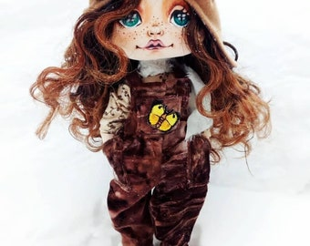 Flight cap handbag Brown fluffy toy with boots and briefcase Love