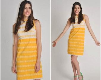 1960s Mod Retro Print dress | vintage 1960s dress | Gay Gibson 60s dress