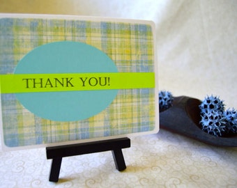 Blue/Green Thank You Note Card Set