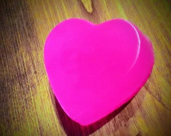 Heart Soap, Valentine's Day Soap, Valentine's Soap, Pink Soap, Glycerine Soap