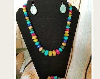 Multi Color Stone Jewelry Set