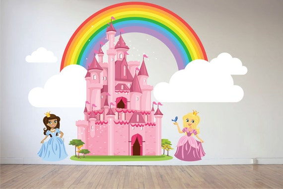 Prinses muur sticker meisjes kamer muur sticker slaapkamer