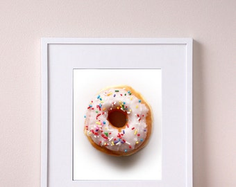 Donut Kitchen Wall Art - Food Photo - Kitchen Wall Art - Giclee Print