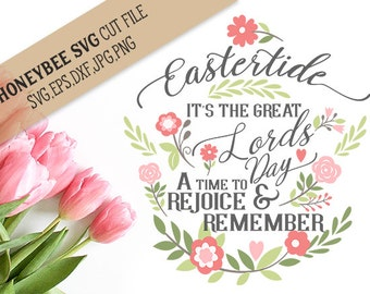Eastertide the Great Lords Day svg eps dxf jpg png cut file for Silhouette and Cricut style cutting machines