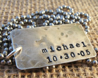 Dog Tags - Husband  Valentine's Day - Personalized Dog Tags - Dad Gift - Personal Gift for Him - Unisex Dog Tags - Sterling Silver Dog Tags