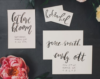 Watercolor Envelope Addressing // Custom Calligraphy Addressed Envelopes