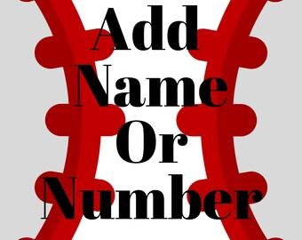 Add Name Or Number (Custom)