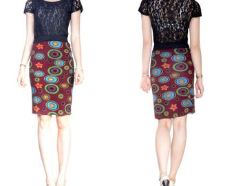 Skirt at the knee wool Jersey (M12)