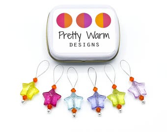 Knitting Stitch Markers - Knitting Accessories - Snag Free Stitch Markers - Knitting Tools - Ideas for Mom - Gifts for Knitters - Knitting