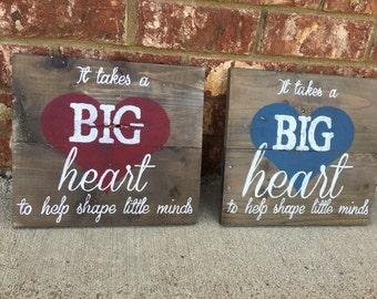 teacher gift/wood sign for classroom/teacher appreciation gift/ rustic sign for classroom