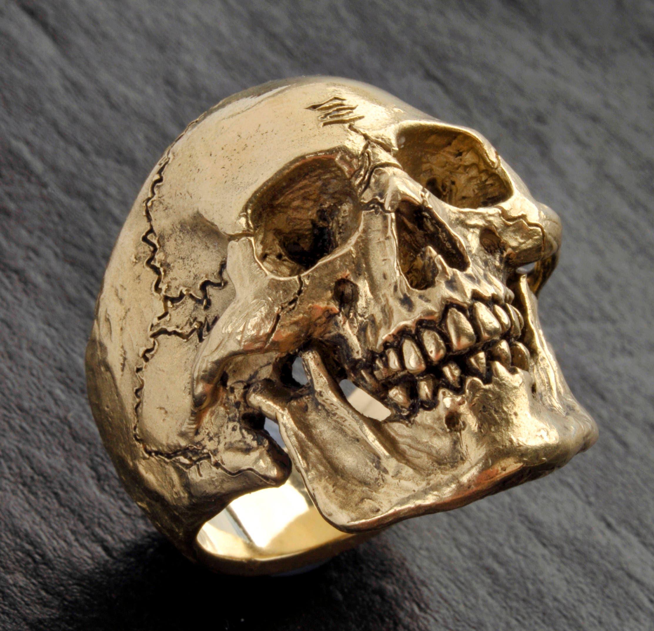 Gold Skull Ringlarge Size14k Solid Gold Skull Ringskull