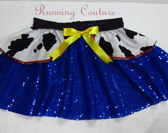2X Jessie Toy Story inspired Sparkle Running Misses round skirt Buzz, Woody
