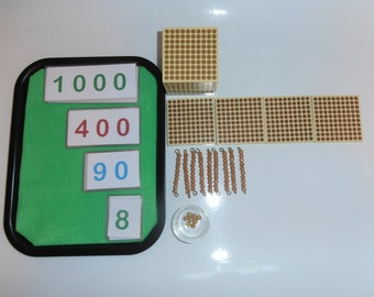 Introduction to the Decimal System, Montessori Golden Beads, Handmade Number Cards, Montessori Lesson Plans, Counting, Maths, Quantities