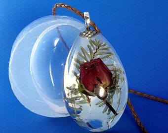 Clear Silicone Mold for Large Drop Pendant, Create Your Own Resin Jewelry (MP021)